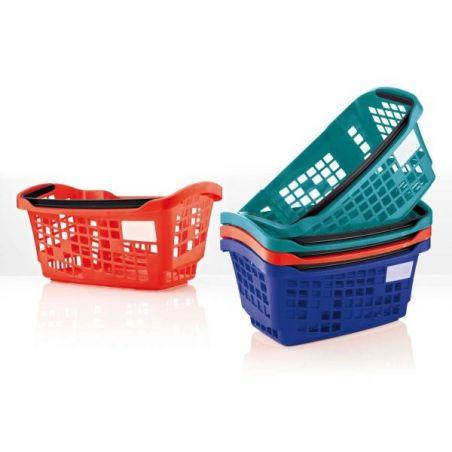 Cestas de plástico 20L para supermercado