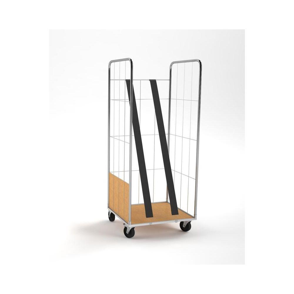 Carro Roll Container con Tirantes verticales