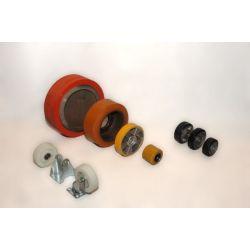 Distribución de ruedas y rodillos