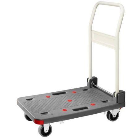 Carro plataforma plegable y apilable para cargar 150 kgs.