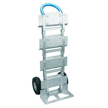 Carretilla industrial porta-botellas con carga para 200 kgs.