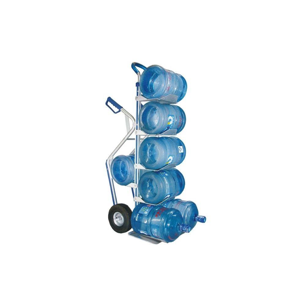 Carretilla manual ind.porta botellas en alum. para 6 bandejas con carga 200 kgs.